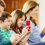 family-using-technology